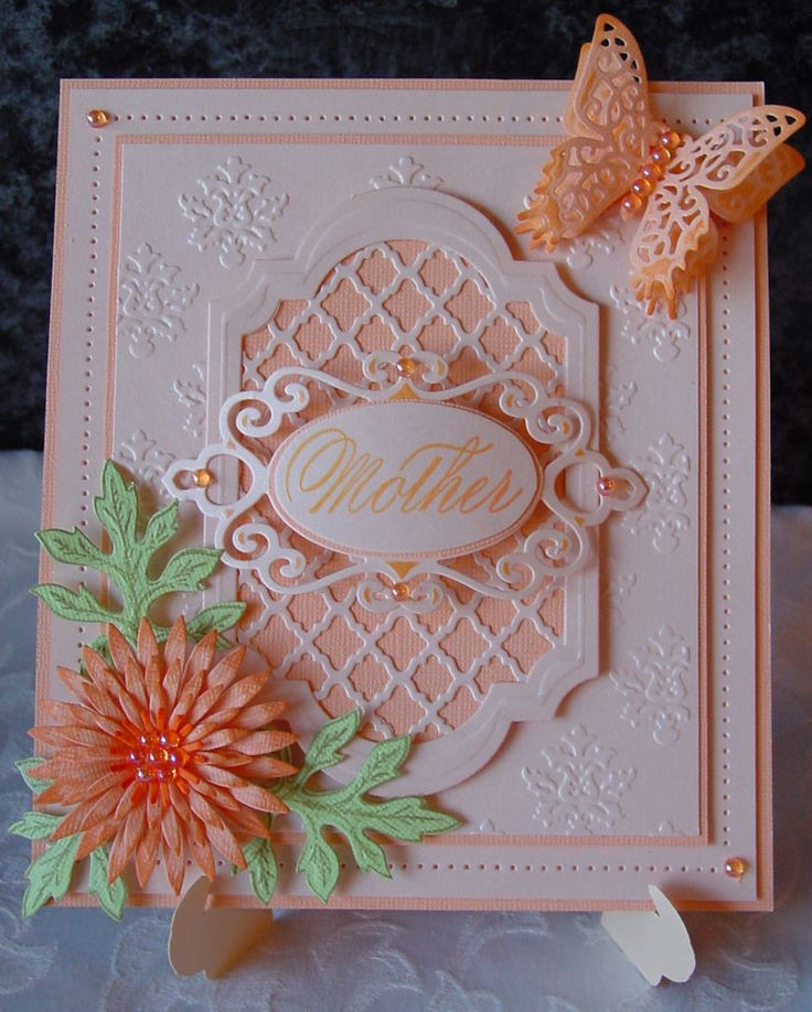 Spellbinders card which i made for my Mum's Birthday