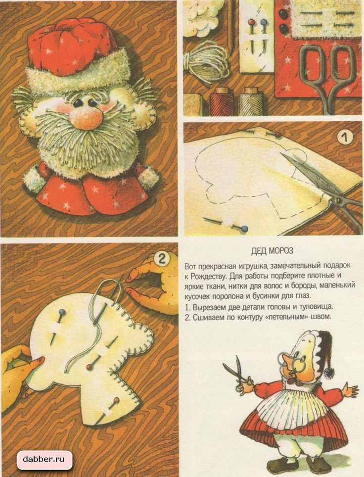 Игрушки своими руками. Сделать подарок самодельный. Сувенир сделай сам. Дед Мороз