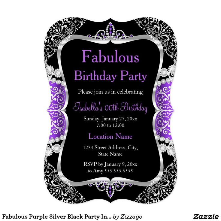 62 best Fabulous Birthday Invites images on Pinterest Fabulous