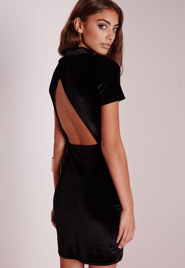 Wholesale black bodycon dress high neck in women cheap