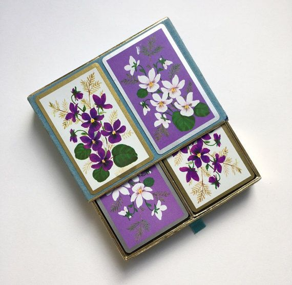 Pretty flowers playing cards  double deck by GalabeerandtheDog