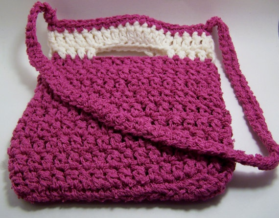 Hand Crocheted Little Purse with Shoulder Strap in by ClassyRags, $20 ...