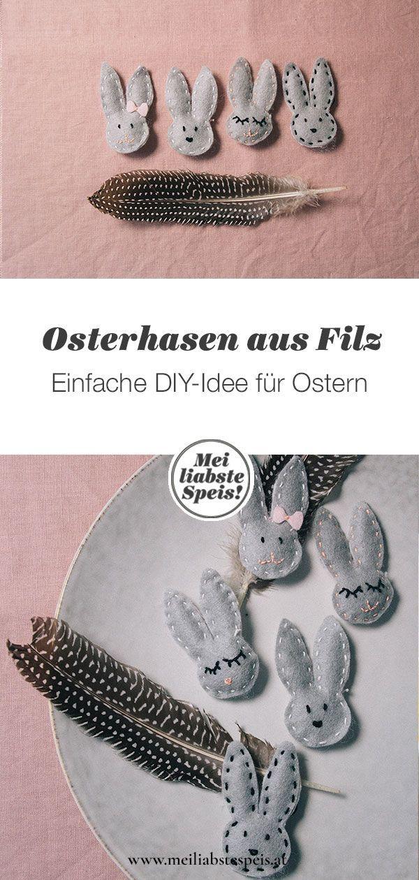 Ein kleines DIY: Osterhasen aus Filz