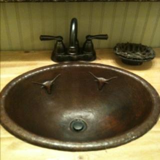 Skull Bathroom Sink : Rustic bathroom sinks, Rustic bathrooms and Bathroom sinks on ...