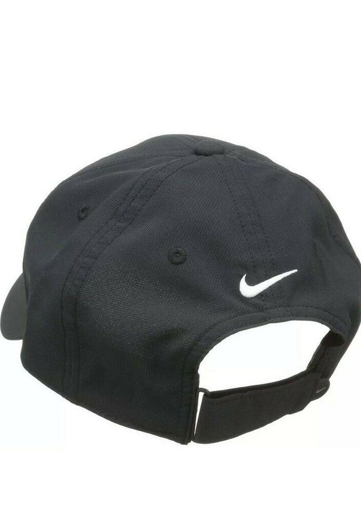 8bb2db08f0749 Nike Mens Golf Legacy91 Tech Adjustable Hat Cap Black White OS 727042-010  NWT