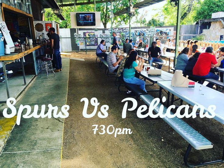 """Come watch the game over at The Texas Bar! Tonight at 730pm!    #spurs #sanantoniospurs #satx #sanantonio #texasbar #texasbeer #texas #farmfresh #farmtotable #farmtofork #fresh #localproduce #local #supportlocal #music #folk #fishtacos #burgers #beer #goodtimes"" via @thecovesa"