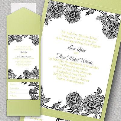 9 best Pocket Wedding Invitations images on Pinterest Pocket