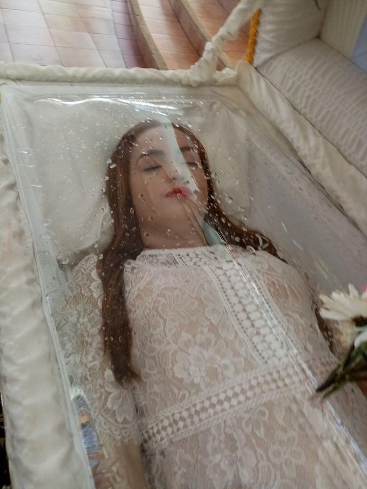 Kylyn Royeras Satin Wedding Gown Lace Gloves Wedding Dresses