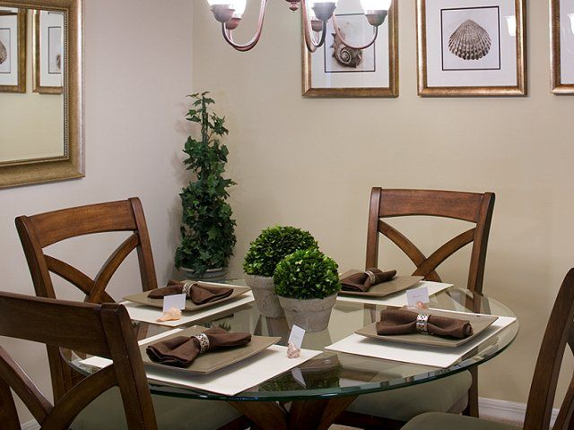 Dining Room Decorating Ideas See More Florida Home Staging Redesign Of Model Condo For Builder