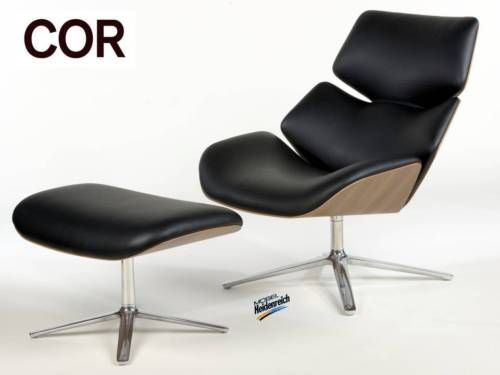2017 Sessel Modern Leder Schwarz