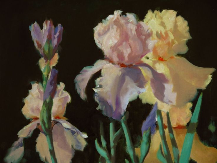 Colours of Spring. Donald Burrow, 2015. oil on canvas 30x 40cm. Painted plein air, studio second pass.