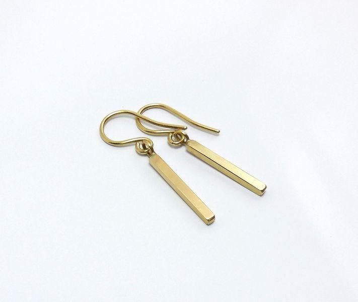 Zierliche Ohrhänger 333 Gelbgold  von Mali Design auf DaWanda.com