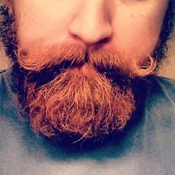 Beards. Men. Curly Mustache. Red Head.