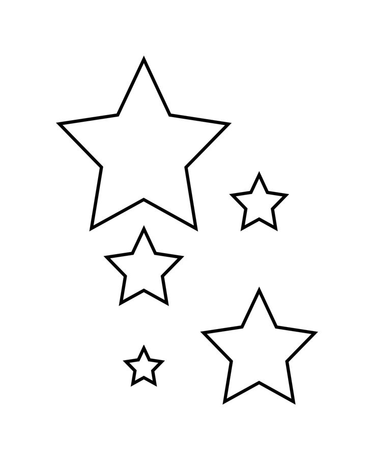 Star Template | Cut out your template. There are 5 stars so you can choose how big ...