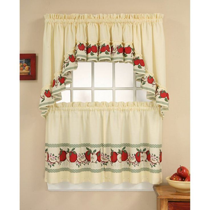 CHF Industries Red Delicious Kitchen Curtain Set - 1Z45630