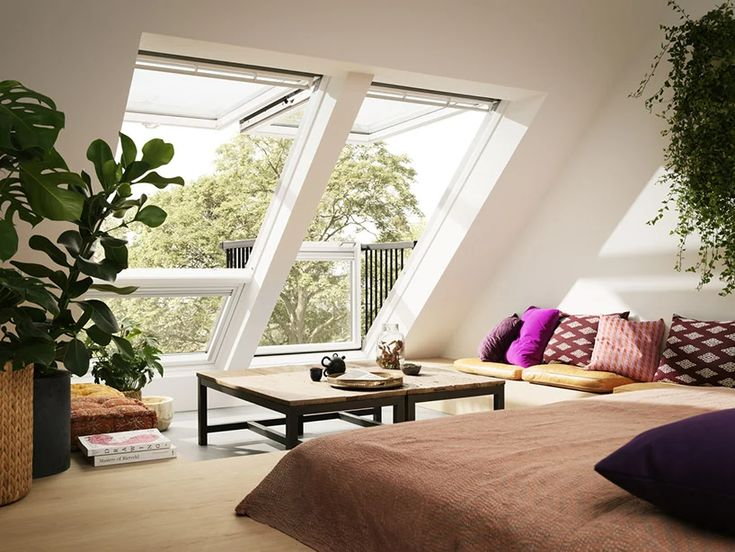 Turn A Roof Window Into A Balcony With Velux S Cabrio System In 2020 Loft Inspiration Roof Window Home