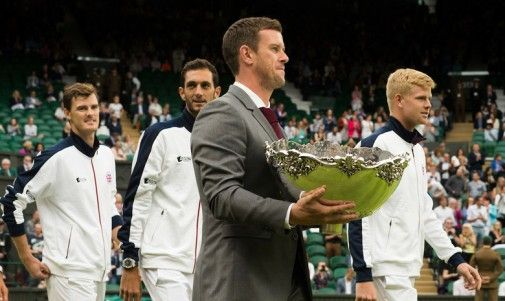 Leon Smith and the 2015 Davis Cup team