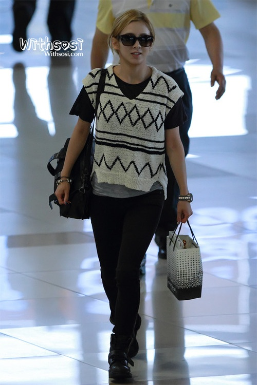 Snsd Hyoyeon Korean Stars Airport Fashion Casual