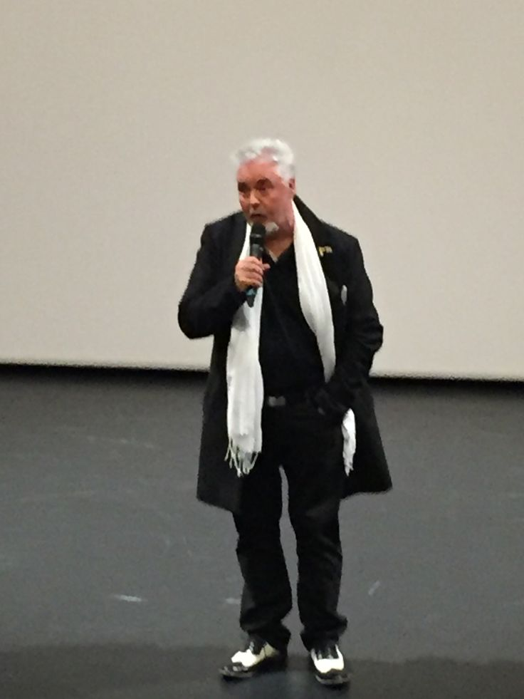 "28.01.16: Director Martin King introducing his documentary""Searching for Augusta: the forgotten angel of Bastogne"" at STJ"