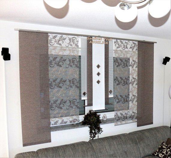 Moderne Schiebegardinen In 2020 Kuchenfenster Gardinen Kuche Fenster Gardinen