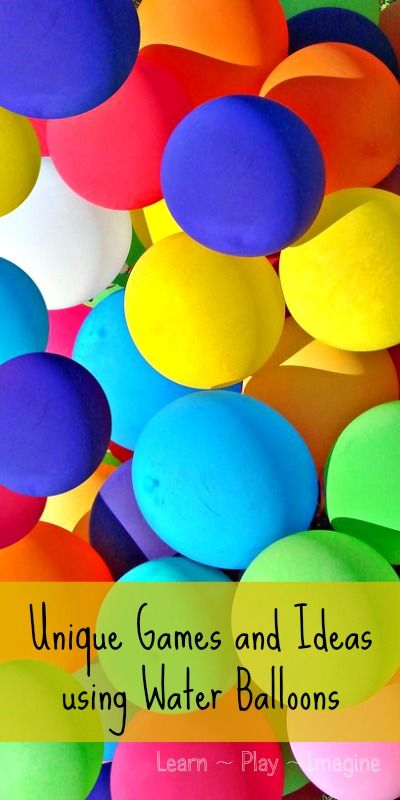 Beat the Heat with Water Balloons ~ Learn Play Imagine