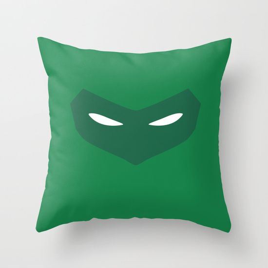 Green Lantern (Hal Jordan) minimalist mask design   #greenlantern #DCcomics #DC #pillow #throwpillow #comics #minimalistheroes
