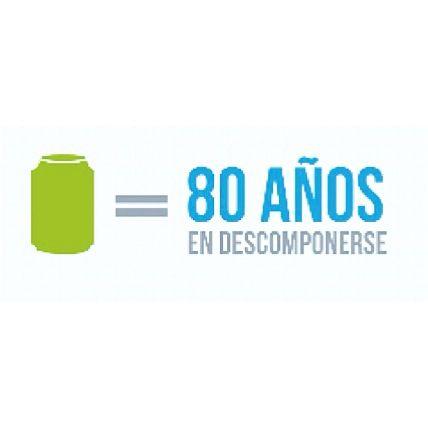 Sabías que una lata de aluminio tarda 80 años es descomponerse. Reciclando ayudas al planeta!!♻️