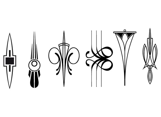 art deco designs...could make cool tattoos