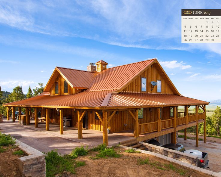 Pre-Designed Wood Barn Home, Great Plains Western Horse Barn 2,736 SQ. FT. by Sand Creek Post & Beam