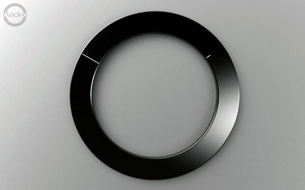 Clock 1:50 by Raunak Narang. Uses minimal hands for hours and minutes [diagram]