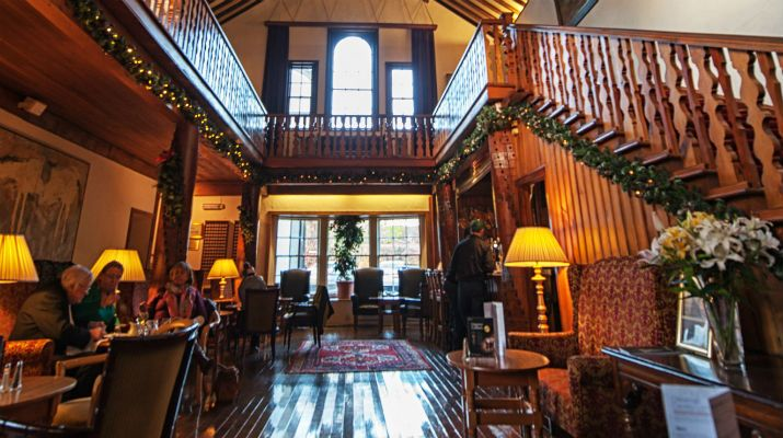 The staircase of the 4* Dunadry Hotel & Country Club, Co. Antrim