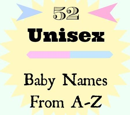 52 Unisex Baby Names from A to Z