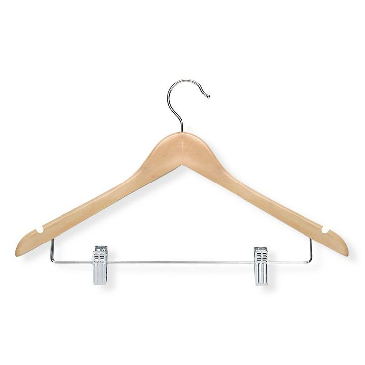 Honey-Can-Do 12-pack Basic Suit Hangers & Clips, Brown