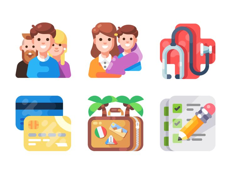 One More Icon/Illustration Pack (WIP) by July Pluto #Design Popular #Dribbble #shots
