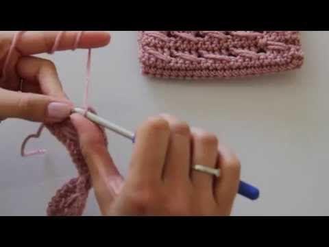 Háčkování - návod na lanový vzor - YouTube