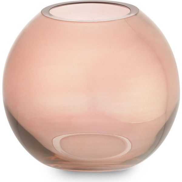 Lsa Polka vase 16cm ($38) ❤ liked on Polyvore featuring home, home decor, vases, lsa international vase, lsa international and metallic vase