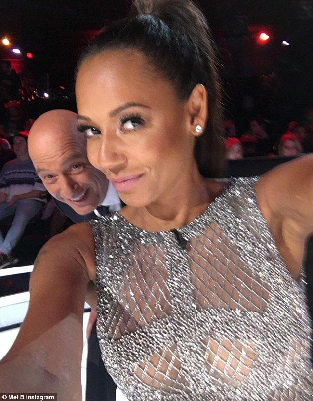 Photobomb! The AGT judge shared a pic from set ahead of the Tuesday airing. She captioned the photo: 'You just had to do it didn't you @howiemandel #nofilterneeded @nbcagt'