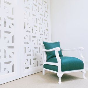 Quenne Anne armchair. Teal fabric chair. | Furniture Upholstery in Taranaki, New Plymouth | Red Couch