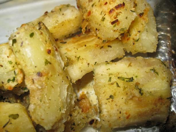 baked yucca! I love it at whole foods, def want to try making this