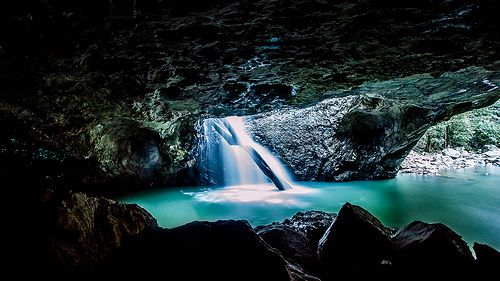 Natural Bridge Cave Springbrook National Park by Andrew Tallon
