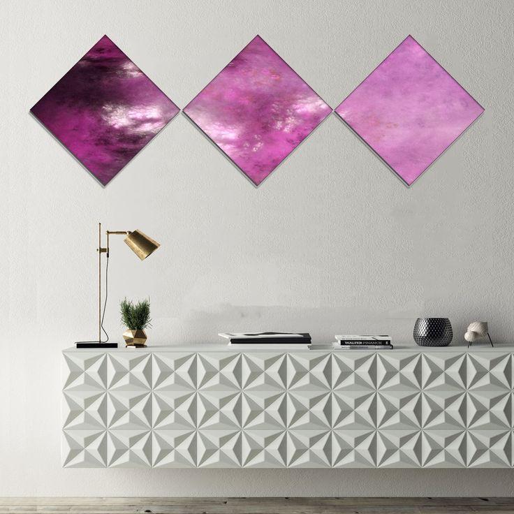 Designart 'Blur Sky with Stars' Abstract Canvas Art Print - 3 Diamond Canvas Prints