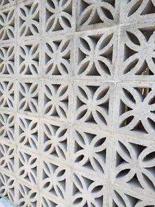 bloc de ciment d coratifs vintage pour mur d 39 intimit