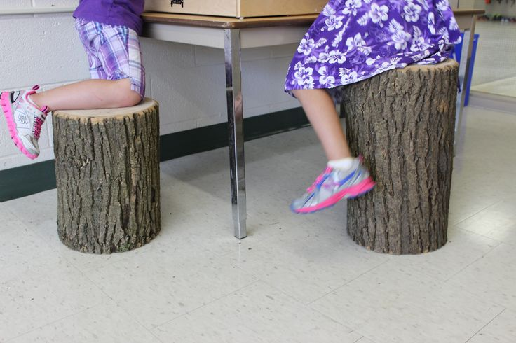 Tree stools at the light table