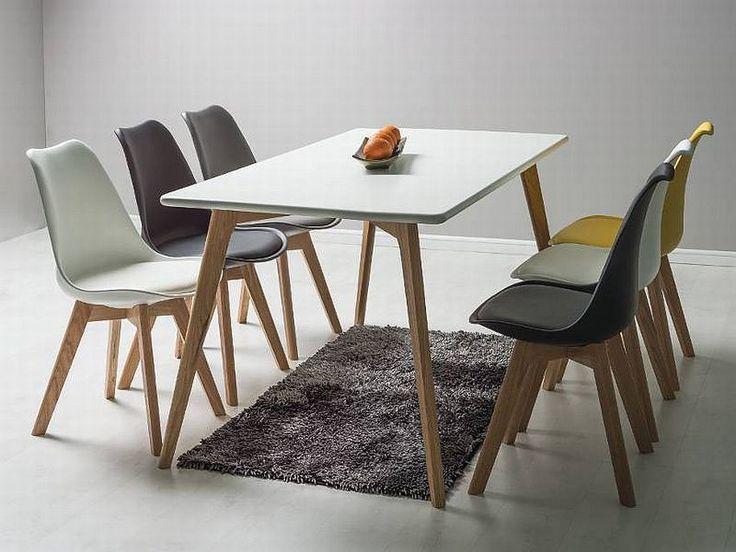 MILAN 90x180 to fantastyczny stół drewniany dla osób chcących zaaranżować mieszkanie w stylu skandynawskim. Stół wykonany jest w połączeniu płyty MDF i drewna,