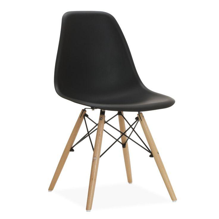 Ispirata alla Sedia DSW di Charles & Ray Eames.     La struttura delle gambe è basata sulla Torre Eiffel.     Peso sopportato dalla sedia: 150 kg.     Disponibile in 8 colori diversi.  La Sedia DSW Eames WOODEN è uno dei modelli più popolari del design all'avanguardia dell'ultimo secolo. Stile, eleganza e comodità si uniscono nella Sedia DSW Eames per dare un tocco distintivo alla tua sala da pranzo o al tuo ufficio. Lo schienale in polipropilene della Sedia DSW Eames si adat...