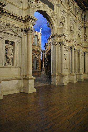 Teatro Olimpico - false perspective stage scene  - Palladio