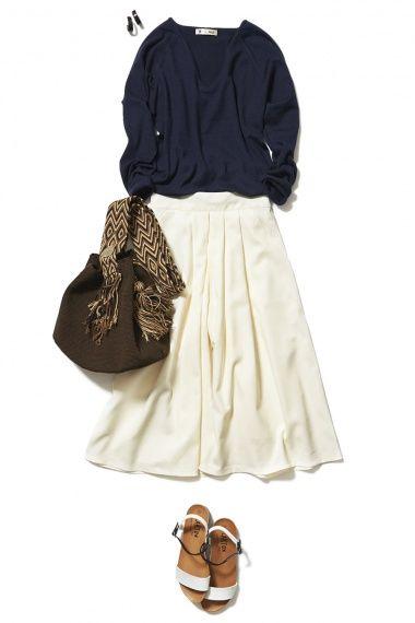 """この春の最旬トレンド""""スカーチョ""""は万能ホワイトで取り入れましょう! ― A-ファッションコーディネート通販 ビストロ フラワーズ トウキョウ"""
