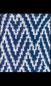 Mosaic pattern for knitting. Slip stitch