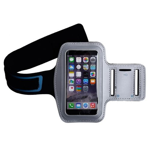 "Apple iPhone 6 (4.7"") - Athletic Runner Armband Silver - myaccessoryguy"