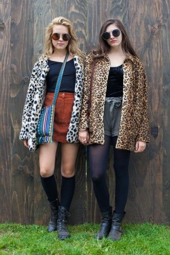 Leopard ladies at Outside Lands Festival. Photos by Anna-Alexia Basile.